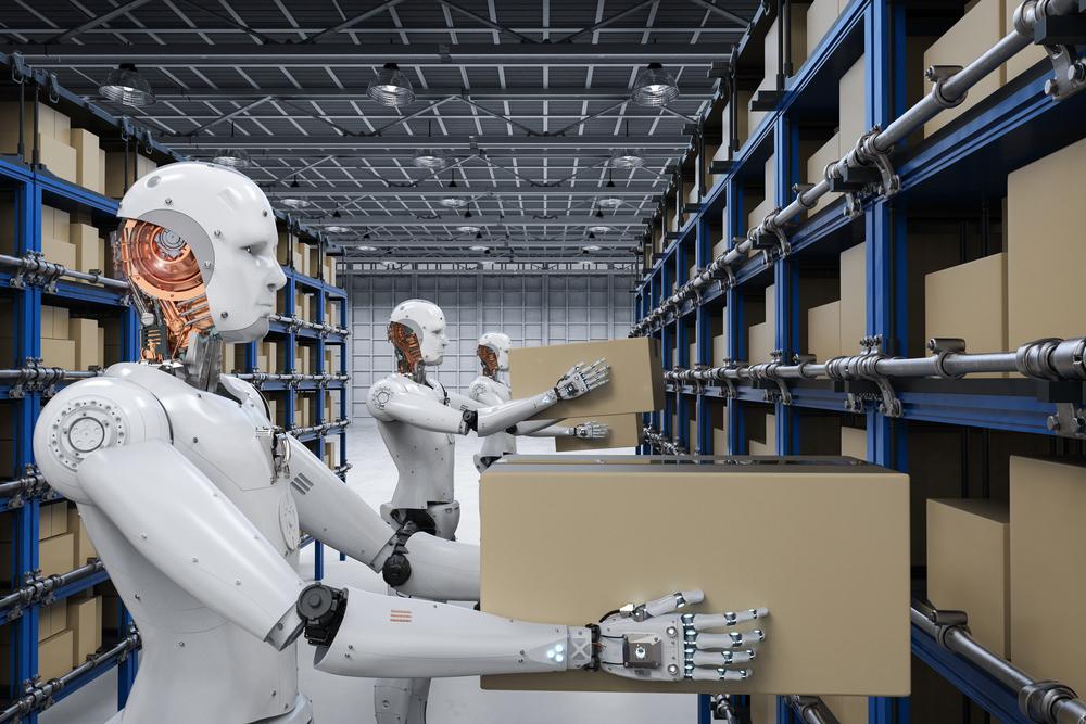Ρομπότ δουλεύουν σε αποθήκη